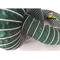 Air Conditioning PVC High Temperature Flexible Duct , Green Heat Resistant Flexible Ducting Manufactures
