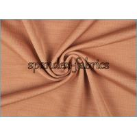 Quality Brown Sports 4 Way Stretch Knitted Fabrics Space Melange Yarn Dyed for sale