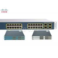 China 10/100/1000Mbps Cisco Gigabyte POE Switch , Used Cisco Routers Switches 24 Ports on sale