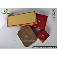 Colorful Cover Jewelry Gift Boxes Recyclable Friendly Plastic Embossing Printing Handling Manufactures