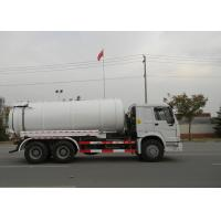 China 19CBM LHD 336HP Sewer Vacuum Truck 6×4 For Oil Chemical Sewage Tank Sediment Suction on sale