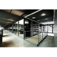 Quality Custom Modern Office Partitions / Sound Proof Double Glazed Partition Wall With Blinds for sale