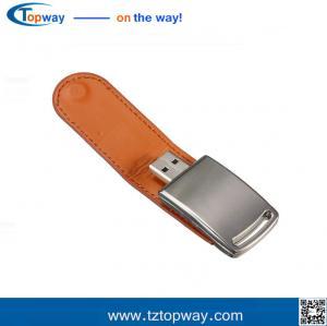 4GB 8GB 16GB 32GB 64GB 128GB Logo Embossed USB 3.0 Black Leather USB Flash Drive Manufactures