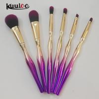 China Kuulee China Hot Sales Plastic Purple 6pcs Cosmetic make up brushes kit on sale