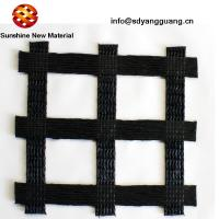 Polyester Unia Axial Biaxial Geogrid Reinforced Block Retaining Wall With PVC Coated Manufactures