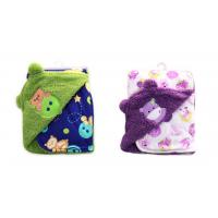 Thickening Double side printed soft polar fleece baby knitted blanket ,Multi for sale