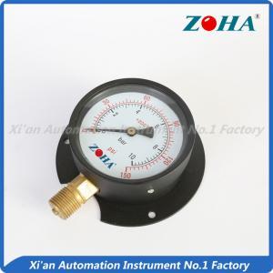 China bottom panel mounting pressure gauge meter on sale