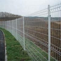 200*50mm Wire Mesh Fence PVC Coated 3D Curved For Farm 0.635m-2.435m Length Manufactures