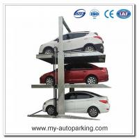 Two Post Triple Parking Lift for 3 Cars Hydraulic Garage Storage Lift Manufactures