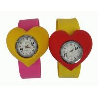 Sport Heart Shape Waterproof Slap Silicone Watch For Kids With Japanese Movement Manufactures