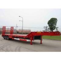 Low-bed Semi Trailer Truck 3 Axles 70Tons 17m for Loading construction machine Manufactures