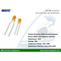 Low Current Leakage 10UF 16V Dipped Radial Tantalum Capacitor with Competitive Price and Fast Delivery Manufactures
