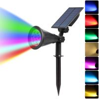 China RGB 7 Solar Landscape Lighting , Solar Powered Pathway Lights For Garden on sale