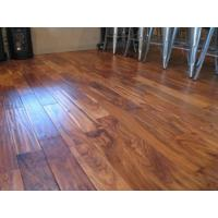 China UV finished Acacia hand scraped solid wood flooring on sale