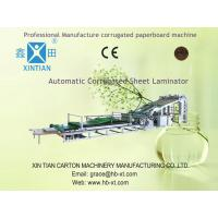 Automated Packaging Flute Laminating Machine ISO-9001 With High-Strength Manufactures