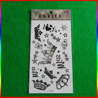 China stock black temporary tattoo sticker, body tattoo manufacturer on sale