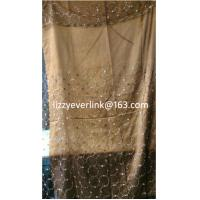 Buy cheap Sequins organza embroidered curtain from wholesalers