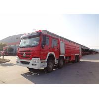Quality HOWO Chassis Motorized Fire Truck Foam Firefighting With Electric Primer Pump for sale