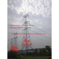 500KV double circuit  SJT umbrella type transmission tower Manufactures