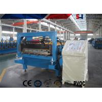 Steel Ribbed Roofing Roll Forming Machine , Glazed Tile Roll Forming Machine Manufactures