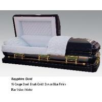 Quality Sapphire Gold Casket for sale