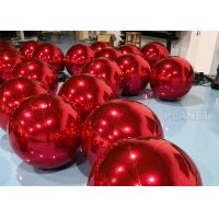Red PVC Inflatable Mirror Ball With D Rings For Shopping Mall High Tear Strength for sale