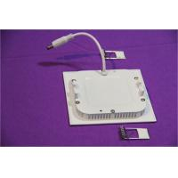 6w Energy Saving Home Ultra Thin LED Panel Light Square Or Round For Hotel / Office Manufactures