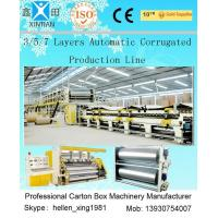 100 Pieces / Min 5 Layer Corrugated Cardboard Production Line 1800mm Width Manufactures