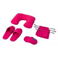 Rose Luxury Travel Set , Inflatable Pillow / Open Toe Slippers / Eye Mask Manufactures