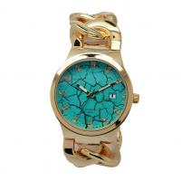 China Cowboy Link Ladies Fashion Watches With Diamond On Dial Green on sale