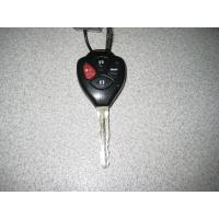 black toyota replacement auto remote keys with high impact resistance Manufactures
