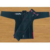 Academy Training Black Brazilian Jiu Jitsu Uniform With Pre - Shrunk Cotton Manufactures