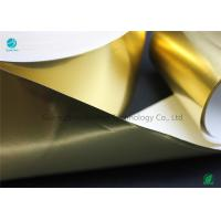 Shiny Glossy Gold Transfer Aluminium Foil Paper With Environmental Materials In 65gsm