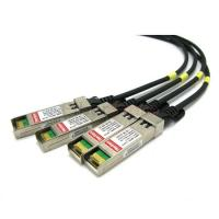 10 Gigabit Ethernet Passive 3m QSFP+ Copper Cable Break out For Juniper QFX-QSFP-DACBO-3M Manufactures