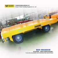 custom 1-200 ton heavy duty industrial trailer towed by forklift free turning trackless transfer trailer