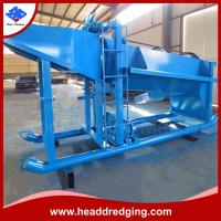 China portable placer gold mining wash plant with 20 tons per hour of  processing capacity on sale