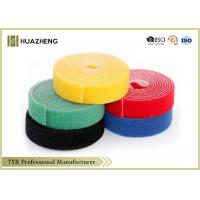 Colorful Nylon Double Sided Hook And Loop Tape With Plastic Buckle 20MM - 110MM Manufactures