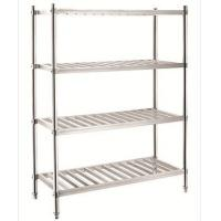 Stainless Steel Kitchen Ware Four Layers Rack Knockdown Series Rectangle Purlin Manufactures