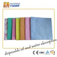 Quality Environmentally Friendly Household Cleaning Cloths Wipes Pink / Orange / Blue for sale