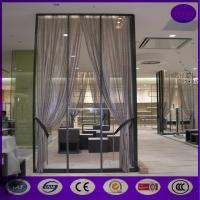 China Silver color Aluminum metal curtain metal chain link fly pest insect door screen curtain on sale