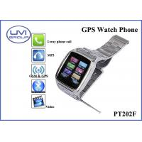 China GPS Realtime Personal Tracking Watch Phone with 1.3MP Camera + Bluetooth + FM+ MP3, Video Player, Ebook on sale
