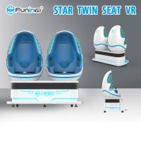 Interactive 9D Virtual Reality Simulator Twin Seat For Amusement Park Manufactures