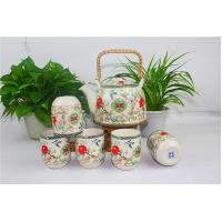 China China Style Porcelain Tea Sets Colorful Teapots With Peony And Swallow Design on sale