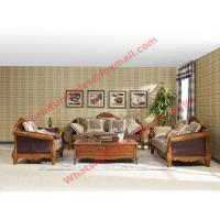 European Country Style Classic Solid Wooden Sofa Made by Italy Leather and Fabric Sofa Set Manufactures
