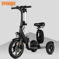 China Black Motorised Mobility Scooter , Old Person Mobility Scooter 100KG Max Load on sale