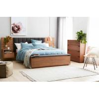 Hotel Room Furniture Luxurious Fabric Upholstered Headboard Storage with Foot Box and Nighstand in Guestroom sets Manufactures