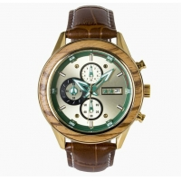 China Wholesale Factory Outlet Four Colors Sports Watches Changeable Top Ring Wood And Leather Watch on sale