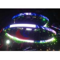 SMD Led Curtain Screen Ribbon Shape , Commercial Advertising Flexible Led Display Manufactures