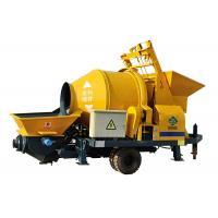 China Cement machinery electric engine lightweight foam mobile portable concrete mixer and pump on sale
