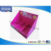 Point Of Sale Cardboard Display Trays With 3 Cells For Girl Accessories , Toys Counter Display Manufactures